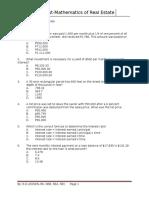 DIAG. TEST Book 5.5 Mathmatics of Real Estate Rdl19q 3p 2014