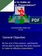 Presentation Skills.