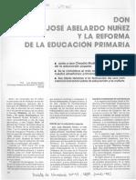 Don José Abelardo Núñez y la reforma de la educación primaria