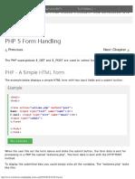 PHP 5 Form Handling