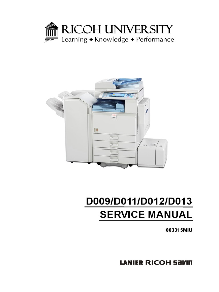 ricoh mp 4000 sm d009 d011 d012 d013 service manual pdf rh scribd com Ricoh Copiers and Printers Ricoh Printers All in One
