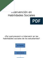 Intervención en Habilidades Sociales