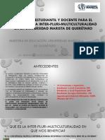 Movilidad estudiantil y docente para el fomento de la inter-pluri-multiculturalidad en la universidad marista de Querétaro.