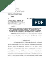 New Mexico ITT Complaint