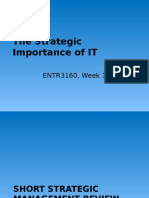 The Strategic Importance of IT