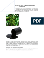 Importancia Del Petróleo en El Modelo Agrominero Exportador