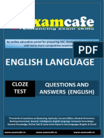 Cloze Test - Practice Set 2