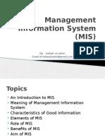 Introdution of MIS