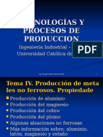 Produccion de Materiales No Ferrosos