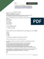 Conjuntos numéricos exercicios