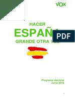 Programa Electoral VOX 26 J
