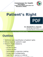 Patient's Right