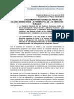 CNDH y salario mínimo