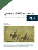 ¿Qué 'Quijote' Era El 'Quijote' de Menard_ _ Babelia _ EL PAÍS