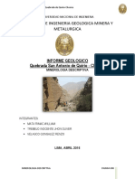 Informe Geologico de Quirio-CHOSICA(Minerologia Descriptiva)