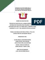 Proceso de Adopcion de Niif Pymes Para La Empresa Angel Guardian Sa de Cv Del Municipio de San Salvador