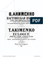 Akimenko - Ecologue Op 12 for EH and Pno