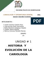 1. Historia y Evolución de La Cariología