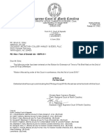 Order Allowing Extension of Time for Defendants to File Brief in Nies v. Town of Emerald Isle