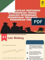 Analisis Determinan Permintaan terhadap Pendidikan Tinggi