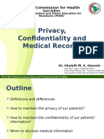 Privacy, Confidentiality &Amp; Medical Records