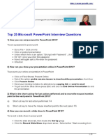 (801797663) Top 25 Interview Questions on Microsoft Powerpoint 2014