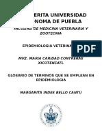 Glosario de Terminos Que Se Emplean en Epidemiologia