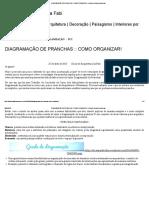 Diagramação de Pranchas __ Como Organizar! – Dicas de Arquitetura Da Fabi