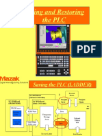 Mazak Matrix Saving and Restoring PLC Procedure