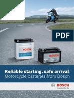 Brochure Motorcycle Batteries m6 m4