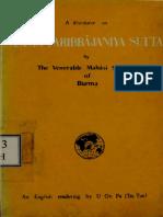 281. Samma Paribbajaniya Sutta - Mahasi Sayadaw