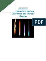 Analisis Sistematico de Los Cationes Del Tercer Grupo