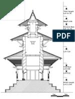 Bishnu Temple Layout X Section