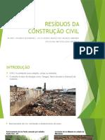 Resíduos Da Construção Civil - Apresentação
