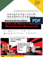 Boolean Secrets