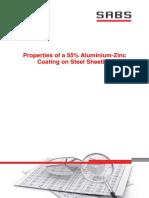Properties of a 55 Percent Aluminium-Zinc Coating on Steel Sheeting