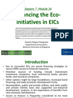 Financing the Eco-initiatives in EICs