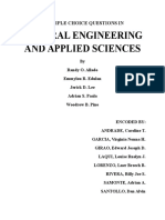 (Percdc) Multiple Choice Questions in General Engineering and Applied Sciences