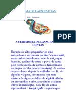 A Cerimonia de Lavagem Das Contas