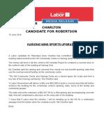 Media Release - Anne Charlton - Kariong Wins Sporting Centre Upgrade
