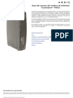 Arris Modem PTV Procono Modelo-TM822 User Guide Std1-2 ES