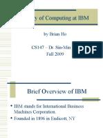 History of Computing at IBM