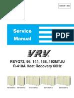 VRV Heat Recovery Service Manual - Daikin SiUS39-602