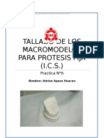 Odontologia Tallado de Macromodelos - PPF - Ics