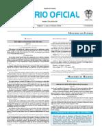 Diario oficial de Colombia n° 49.917. 27 de junio de 2016