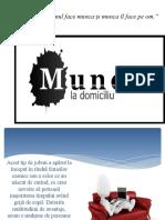 Munca La Domiciliu