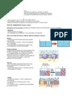 Envoltórios Celulares e Transporte