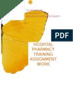 Hospital Pharmacy Training assignment