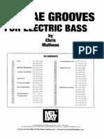Chris Matheos - Reggae Grooves for Electric Bass