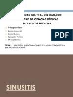Sinusitis, Laringotraqueitis Bronquitis Cronica y Faringoamigdalitis..